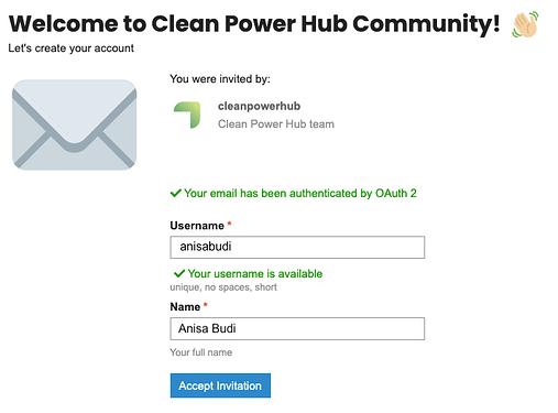 Invitation-Clean-Power-Hub-Community 1